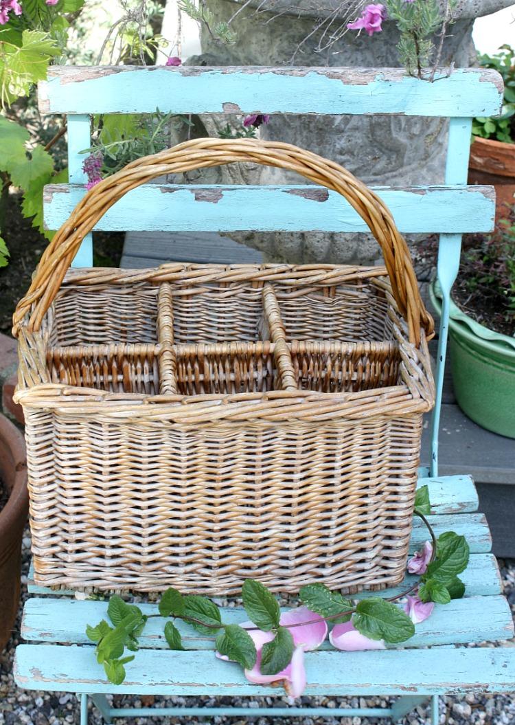 French Wicker Wine Bottle Carrying Basket #2