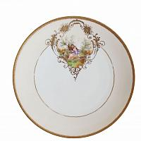 Antique Gilt Encrusted Hand Painted Plates Set of 4