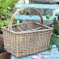 French Wicker Wine Bottle Carrying Basket #3