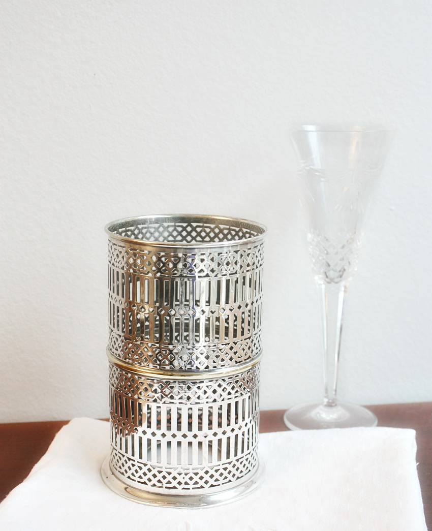 Large Silver Plated High Wine Bottle Holder