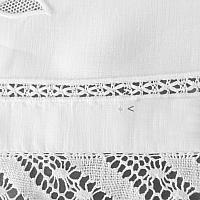 Exceptional Antique Linen Tablecloth with Hand Embroidered Roses and Bobbin Lace