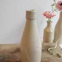 Vintage Country French Stoneware Cider Bottle
