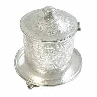 Antique English Silver Plated Biscuit Barrel