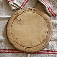 Antique English Pine Wood Bread Plate