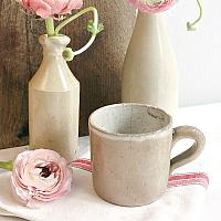 Antique French Country Pottery Cup