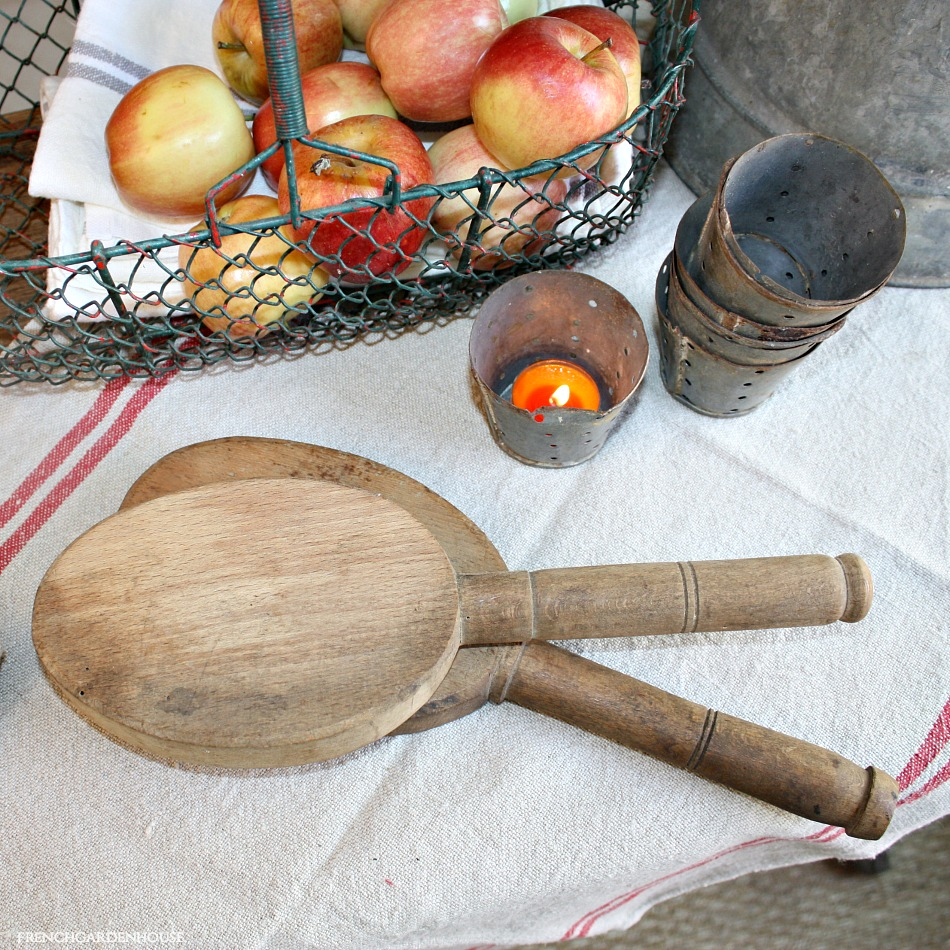 19th Century French Oval Wood Laundry Paddle