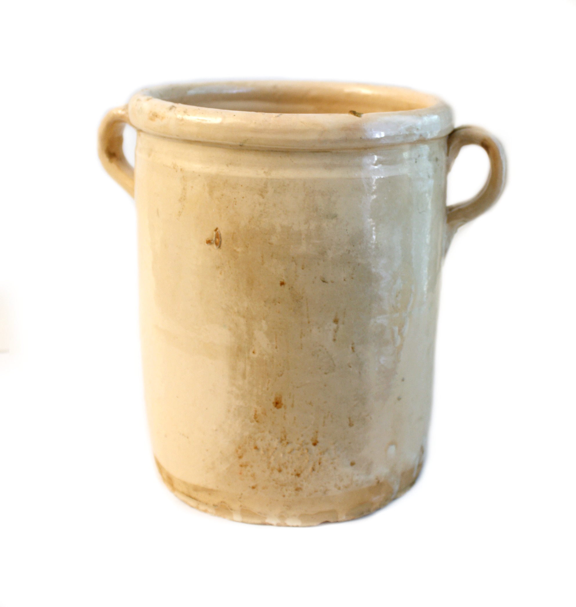 19th Century French Faience Sardine Jar A