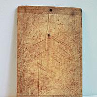Antique Rustic Oblong Wood Cutting Board