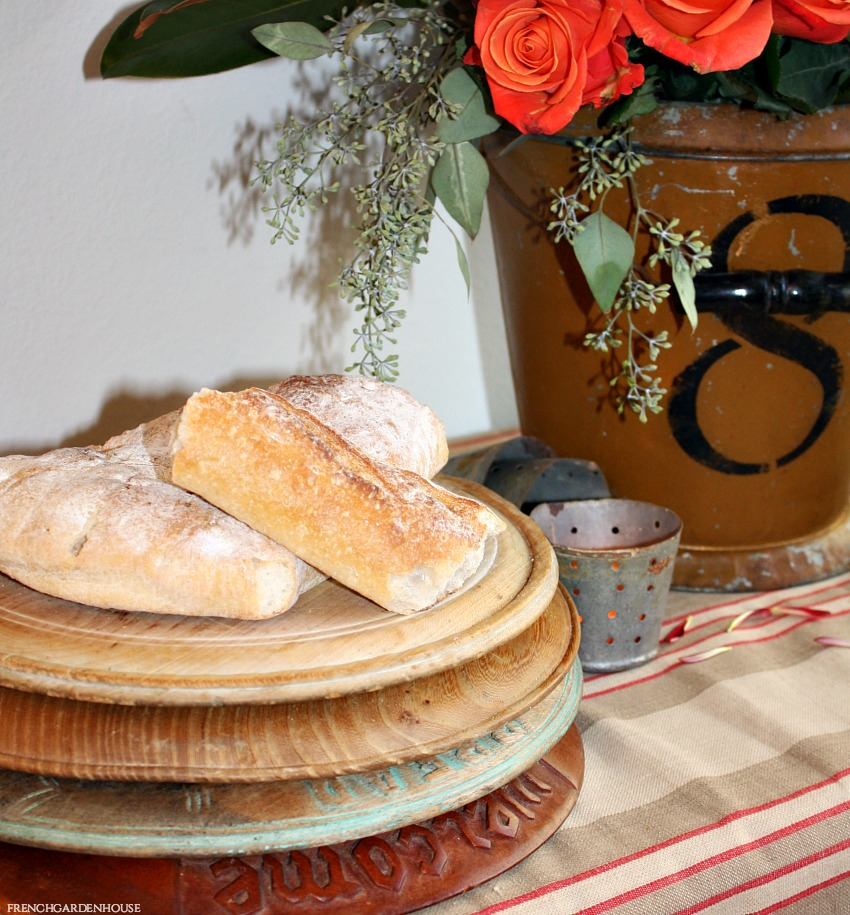 Antique French Country Round Bread Board
