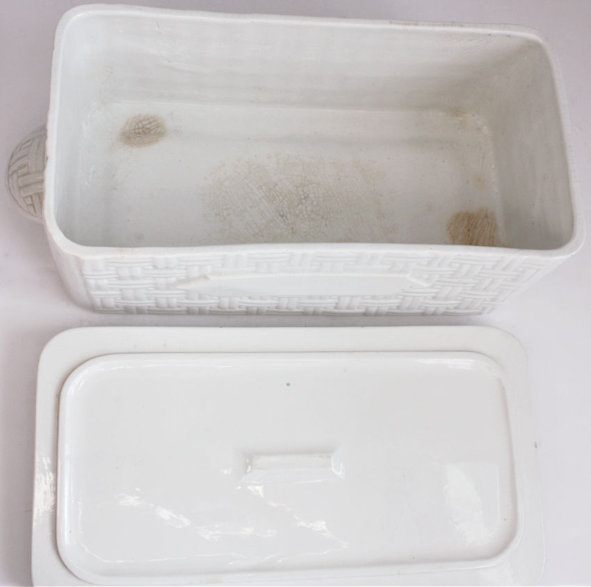 Antique French White Fish Tureen