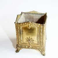 Antique Gilt Metal Sorority Vanity Holder 1918