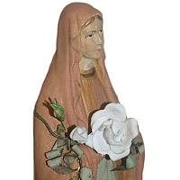 Antique French Virgin Mary Chalkware Pink Madonna