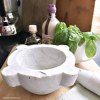 Antique French Marble Pharmacie Mortar & Pestle