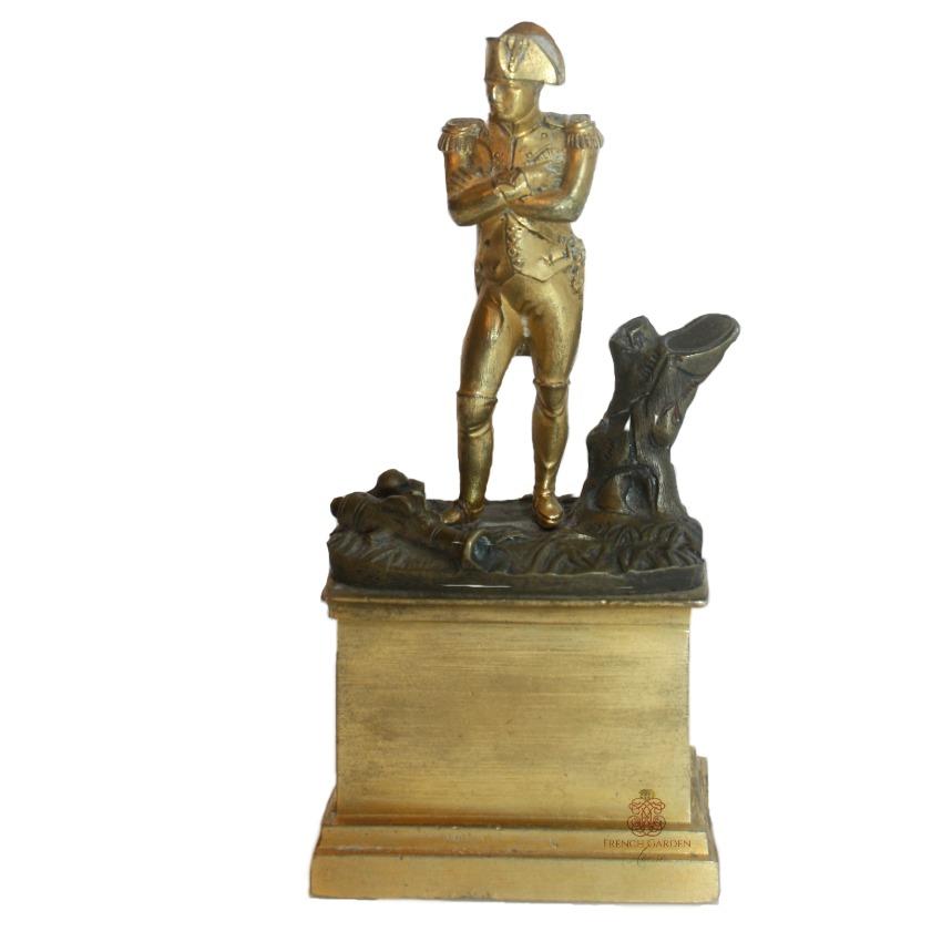 Antique Napoleon Bonaparte Polished Desk Bronze Sculpture
