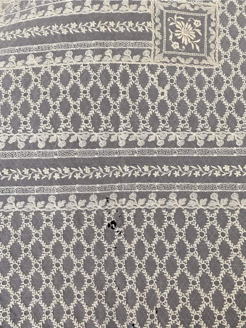 Antique French Normandy Lace Coverlet