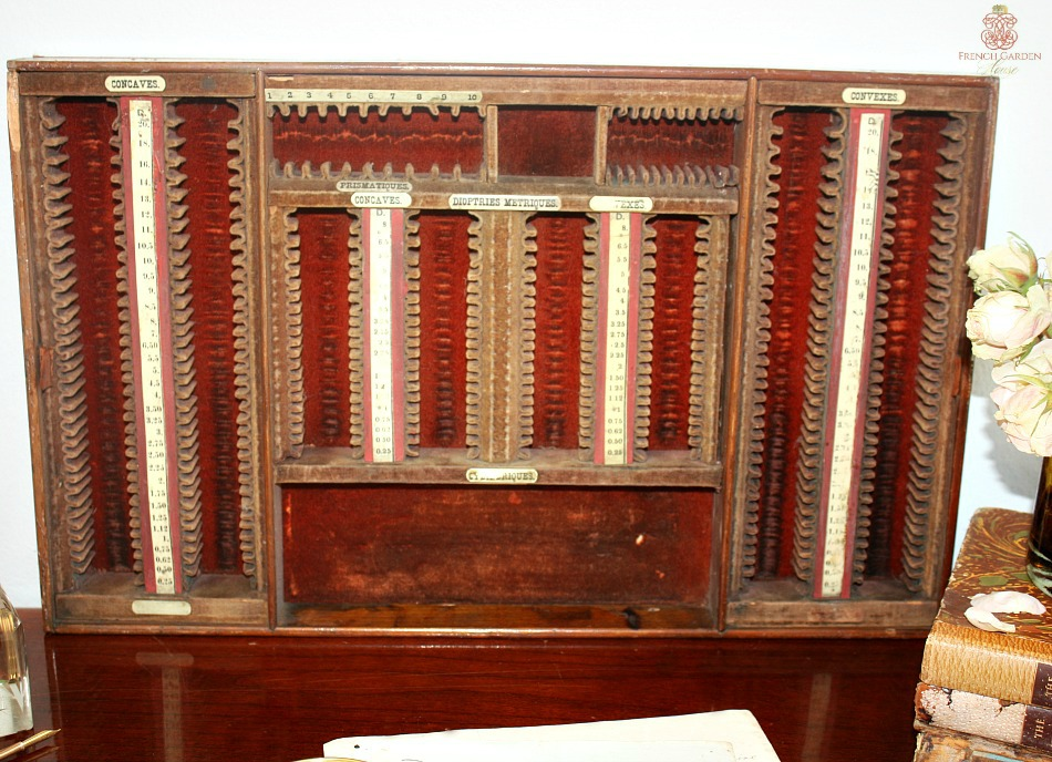 19th Century French Optometrist Eye Testing Holder Display
