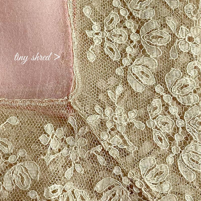 Antique French Alencon Lace Mouchoir de Soie