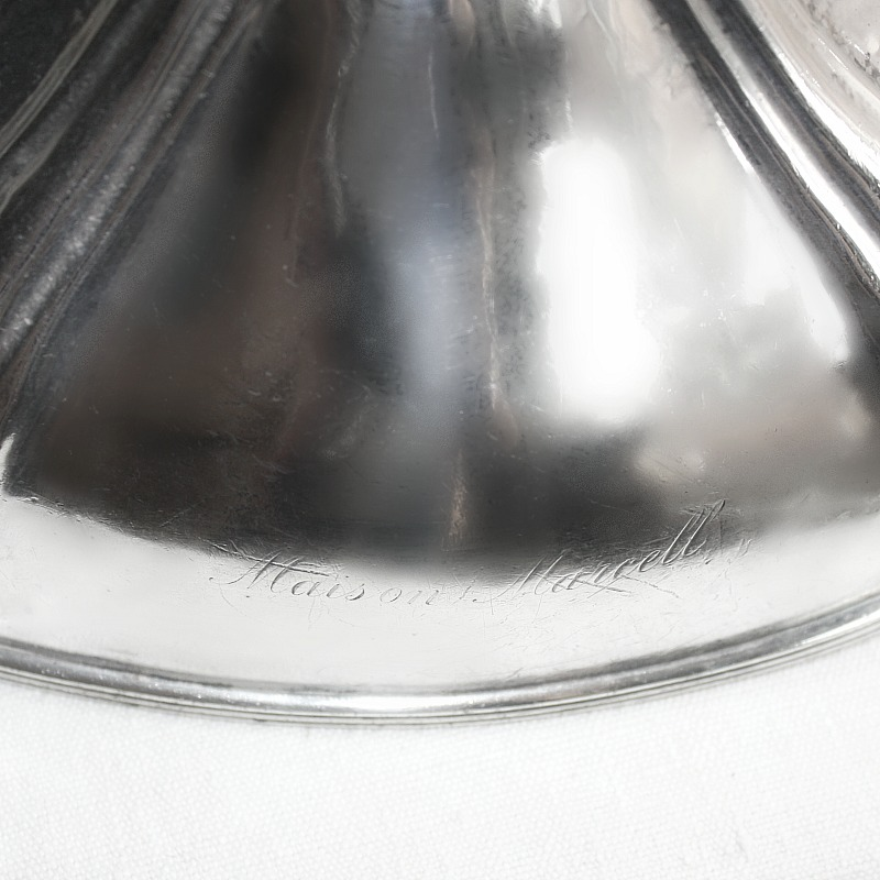 Vintage French Maison Marcell Hotel Silver Food Meat Dome