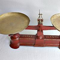 Antique French Country Red Balance Scale