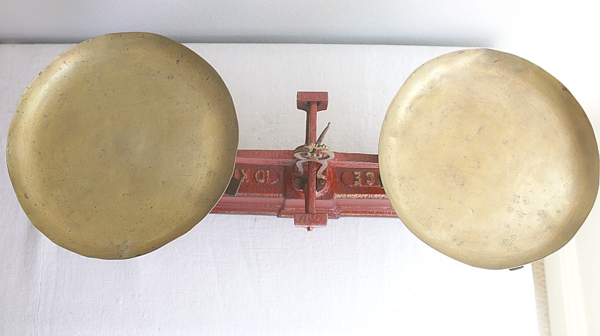 Antique French Country RedBalance Scale