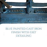 Antique French Balance Scale Blue & Gilt