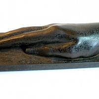 Antique Bronze Presse Papier Lady's Hand Paper Weight