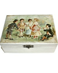 Antique Children's Sewing Box