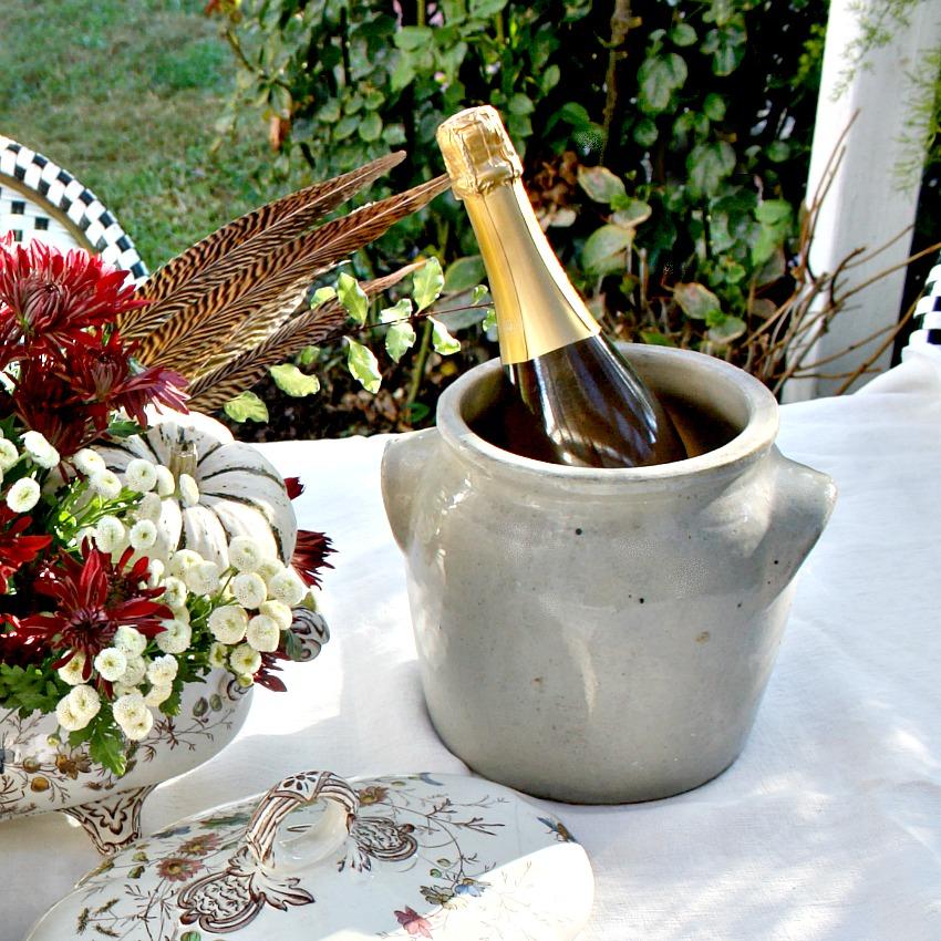 French Pot en Gres Enameled Storage Crock Jar Brittany