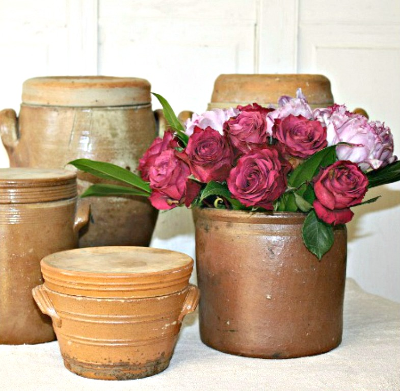 Early Antique French Storage Preserving Crock