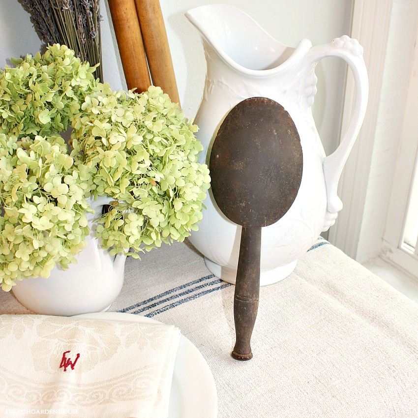 Antique French Hand Carved Chateau Wood Spoon