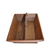 Antique Country Farm Oak Wood Cutlery Tote Carrier