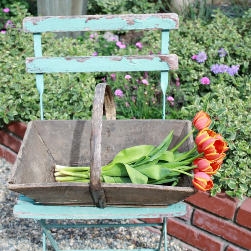 Antique French Harvest Basket