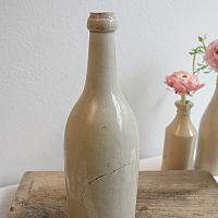 Antique French Stoneware Wine Cider Bottle Large