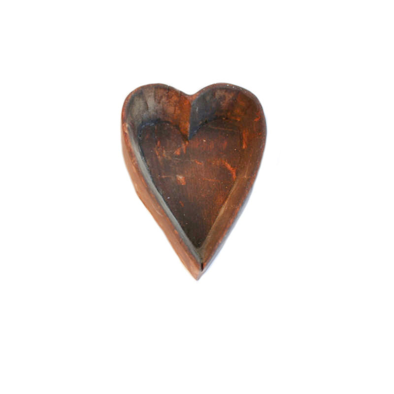Hand Carved Wood Heart Mold
