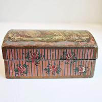 Antique French Bonbon Hand Painted Pink Box