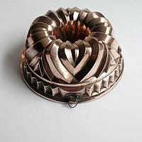 Antique Copper Jelly Mold Large Round