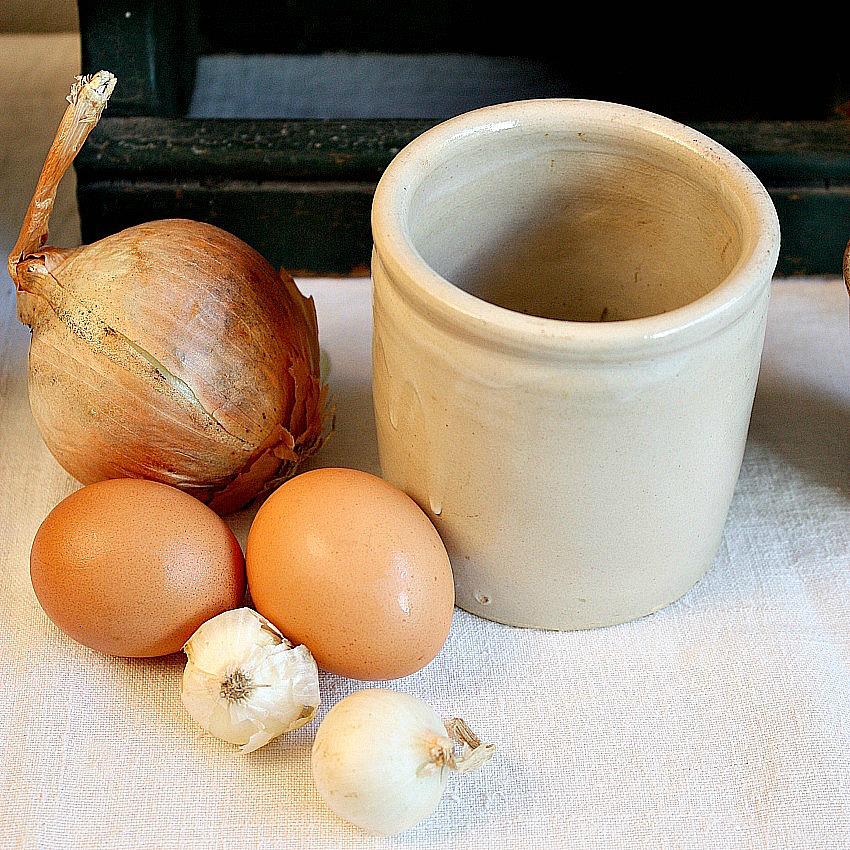 French Farmhouse Stoneware Confiture Pot