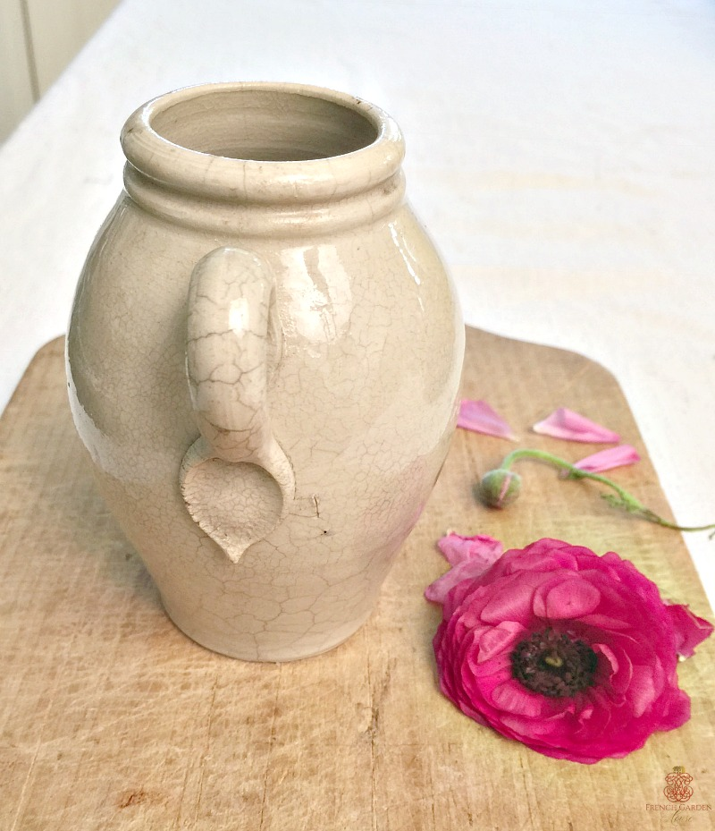 Antique French Pot en Gres Moutarde Jar