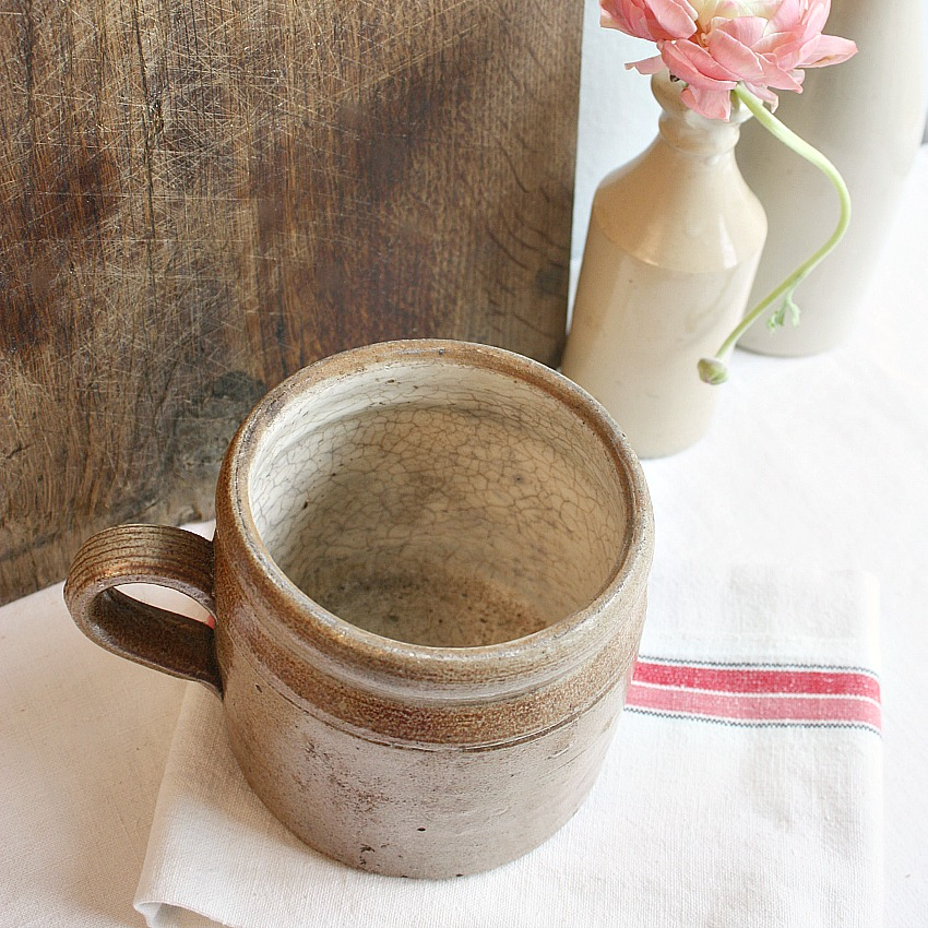 Antique French Preserving Jar with Handle
