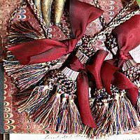 Parisian Atelier Vintage Tassel Curtain Tie Backs Merlot Silk