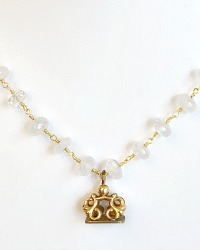 Georgia Hecht Antique Gold Wax Seal Necklace