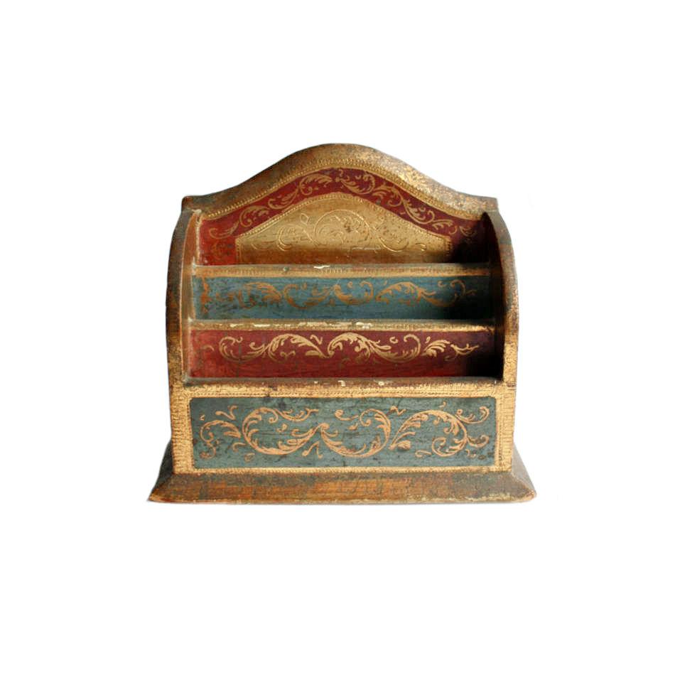 Vintage Florentine Letter Holder