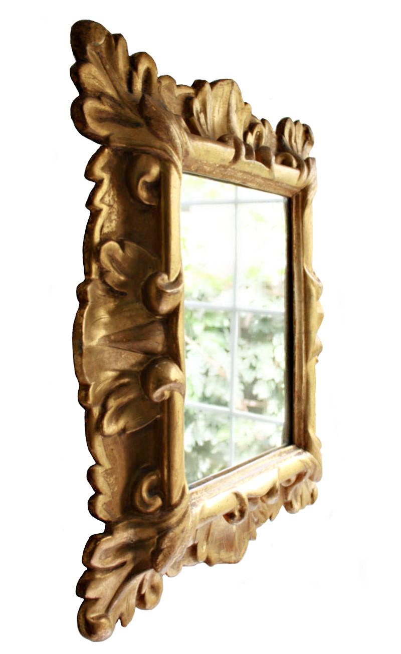 Antique Giltwood Rococo Style Mirror