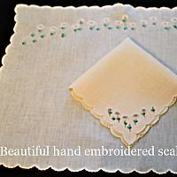 Vintage Madeira Embroidery 2pc Breakfast Tray Set