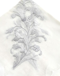 Madeira Organdy Table Cloth and Napkin Set Set Silver
