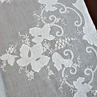 Heirloom Estate Madeira White Grape Leaf Organdy Table Runner