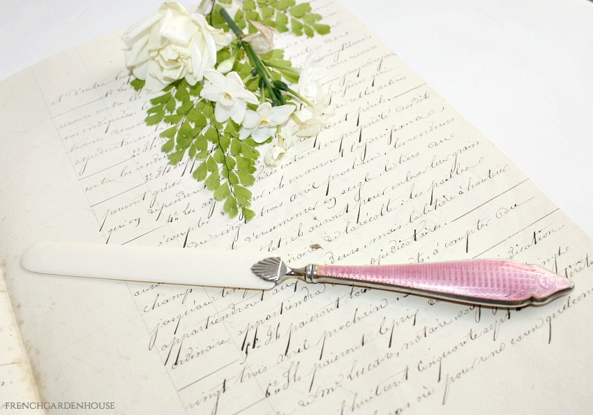 Antique Silver and Pink Guilloche Page Turner
