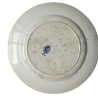Antique English Blue and White Transfer Plate Scottish Highlands