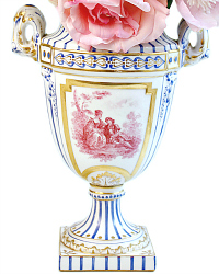 Antique Sevres Louis XVI Hand Painted Porcelain Urn