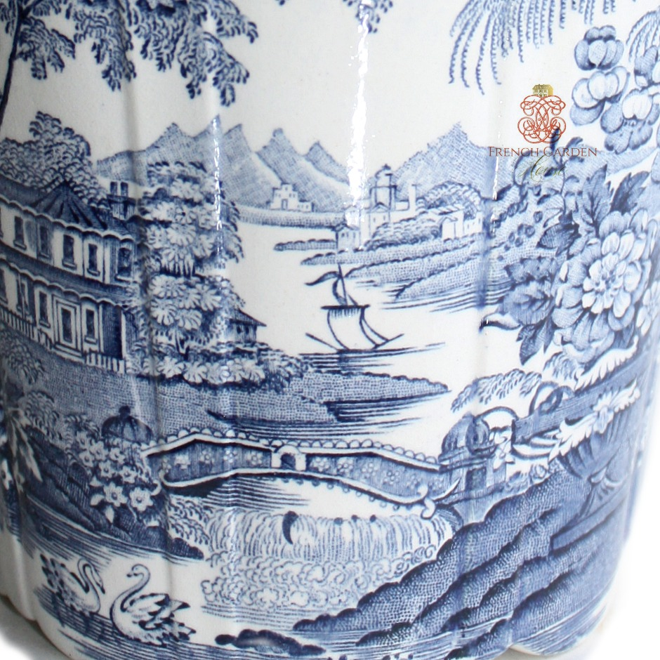 Gorgeous Blue & White Transferware Planter Royal Staffordshire
